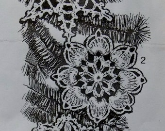 Vintage Crocheted Snowflakes PDF Pattern - Design 431