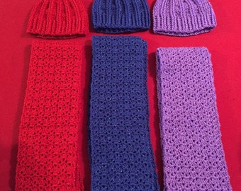 Hat and Scarf sets  acrylics