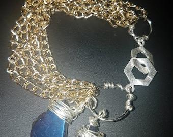 Blue Quartz multi chain bracelet