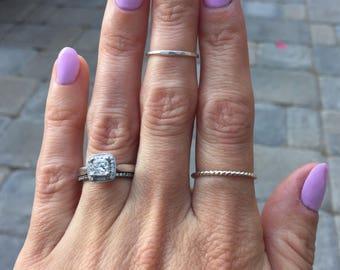 Minimal midi ring, thin silver stack ring, silver midi ring, gold midi ring