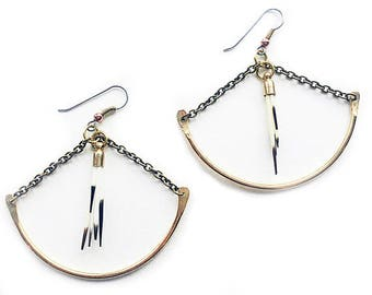 Wild Crafted Yukon Quills } { Porcupine Quill earrings } { ethically sourced, sustainably made eco fashion }  { raw, vegan, organic }