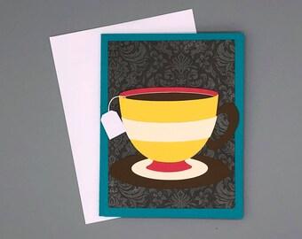 Tea Card | Funny Card | Tea Bag Card | Gift Card Holder | Friendship Card | Tea Cup | Tea Cup Card | Afternoon Tea