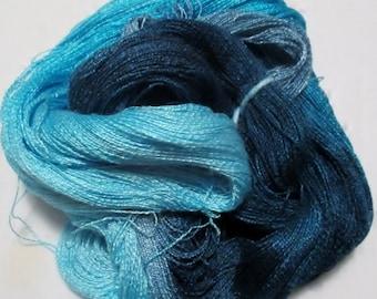 Hand dyed Tencel Yarn - 900 yds. Lace Wt. Tencel Yarn  BLUE MOON
