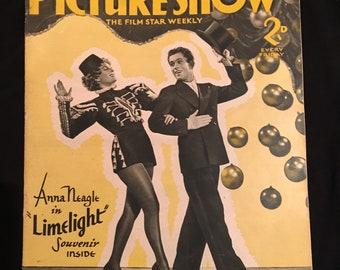 Original Picture Show Magazine Sept 12th 1936 Vol 35 #906 Franchot Tone, Limelight, Anne Neagle