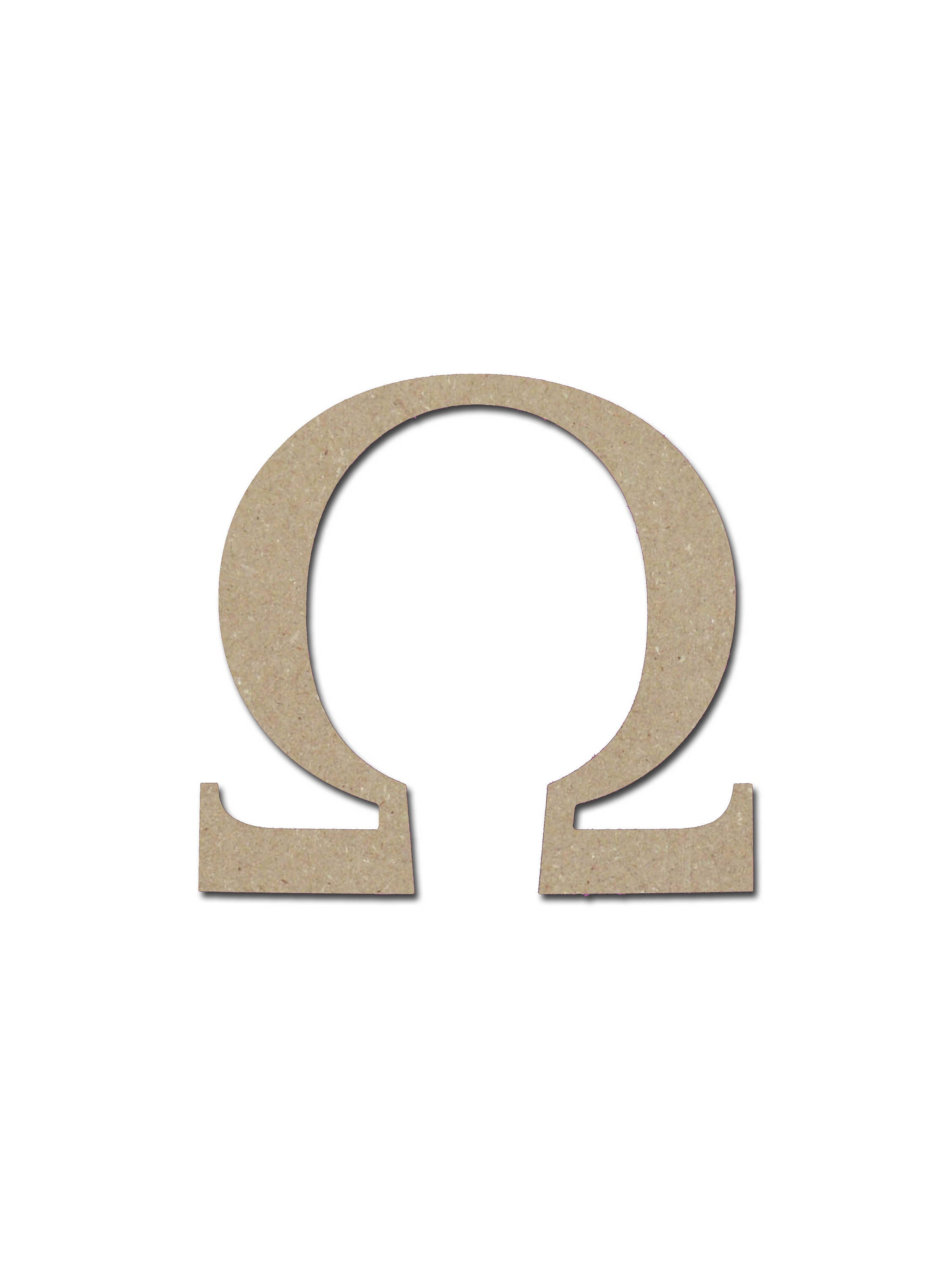 Greek letter omega symbol unfinished mdf letters 6 inch zoom biocorpaavc Gallery