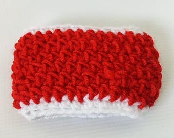 Red and White Crochet Cup and Bottle Cozy, Crochet Cup Cozy, Gift for Women, Red and White Cozy
