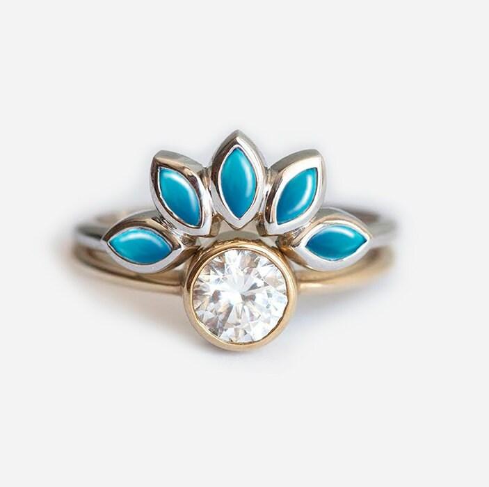 Turquoise Wedding Ring Sets