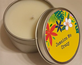 6oz Massage Candle -  Vegan All Natural Soy Wax Based Candle with Organic Oils