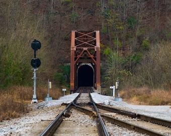 Train Bridge Digital Print 11 x 14