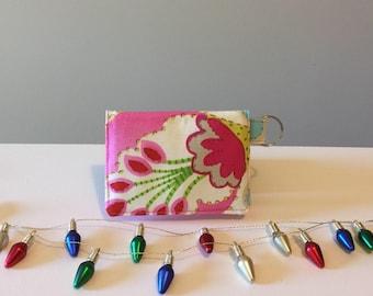 Women's Fabric Wallet, Fabric Mini Wallet, Fabric Card Wallet, Business Card Holder, Cash Wallet, Mini Key Chain Wallet, Fabric Wallet
