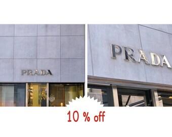 Prada art print, fashion wall art,  Prada store sign, New York fashionista gift, girls room decor, bathroom wall art, bedroom art dorm decor