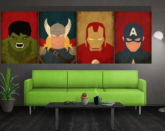 Minimalist Avengers Poster Set Marvel Poster Avengers Art Avengers Wall Art  Captain America Poster Iron Man