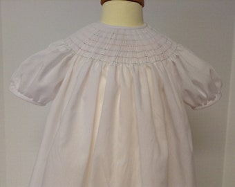 Ready to Smock Bishop Dress 3m, 6m or 12m Made to order Imperial Batiste