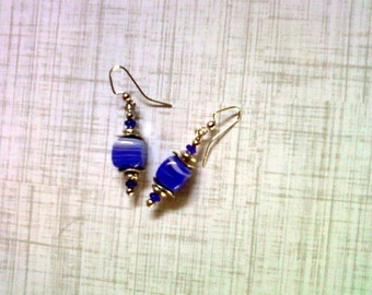 Blue and White Earrings (1525)