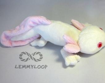 Albino Axolotl Plush