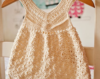 Crochet dress PATTERN - Vanilla Dress (sizes up to 6 years)