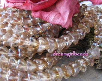 Sweet Tea Sparkle Bell Flower Beads