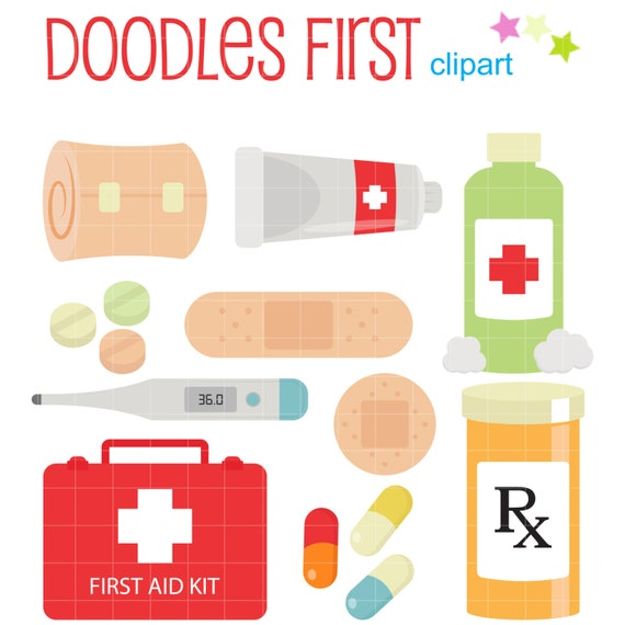 first aid kit digital clip art for scrapbooking card making rh etsy com first aid kit clipart first aid kit clipart