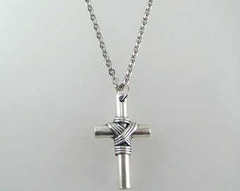 Cross with Rope Necklace