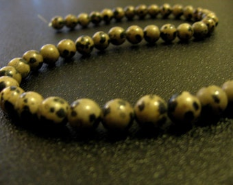"14"" Strand 8mm Round Natural Dalmatian Jasper Beads - Brand New Gemstone Beads!"