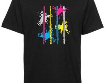 Neon Flutes T-shirt, Music T-shirt, Instrument -shirt, Music