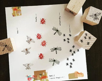 KURUKYNKI - minibugs rubber stamps