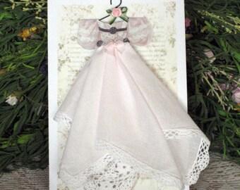 Party Dress Keepsake Hanky Card