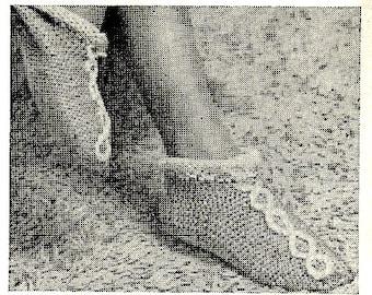 Knit Slipper Socks Pattern Vintage 726117