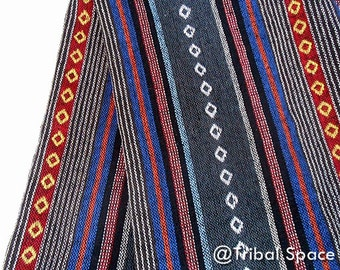 Thai Handwoven Fabric,Hippie Fabric,Aztec Fabric,Native Fabric Tribal Fabric Nepali woven,Fabric half (1/2) yard (NGI_006)