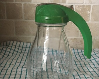 Hazel-Atlas Federal Tool Corp Syrup Dispenser with Green Lid