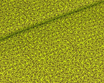 David cotton textiles peace Brown on green (14.50 EUR / meter)