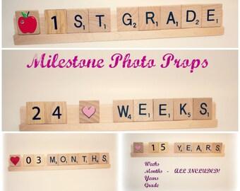 Sale, Baby Milestone, Milestone Prop, Milestone Photo, Baby Month, Baby Month By Month, Milestone Block, First Day School Sign, School Sign