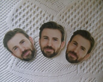 Chris Evans Inspired Stickers