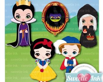 Princess Snow White Clipart Set