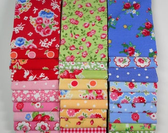 """Pam Kitty fabric 2.5"""" strip bundle--HTF and OOP Lakehouse"""
