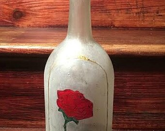 Beauty and The Beast Rose Inspired Light Up Wine Bottle