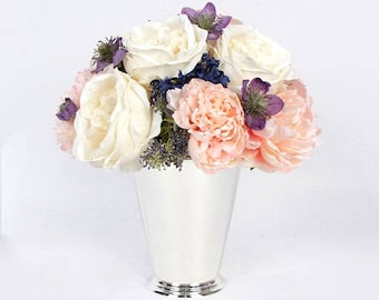 Luxury Pink White Rose and Peony Flower Arrangement Tall