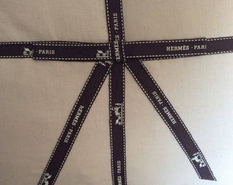 Authentic Hermes Ribbon Pillow Equestrian Horse