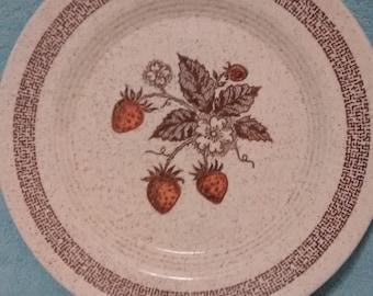 Homer Laughlin Strawberries Pattern Dinner Plate