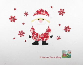 Fusing Santa fabric liberty Mitsi valeria flex glitter and velvet fusible pattern liberty applique santa iron on