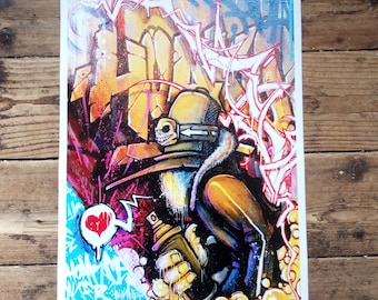 Bags Of It - graffiti character A3 art print by Hoakser