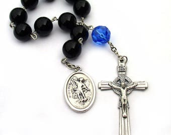 Saint Michael Guardian Angel Rosary Police Officer Gifts