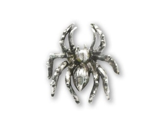 Spider Silver Finish Pewter Tie Tack or Jacket/Hat Pin P-14