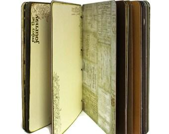 Travel Scrapbook Album - Personalized Adventure Book - Travel Memory Book - World Map Travel Journal - Travel Journal - Travel Album