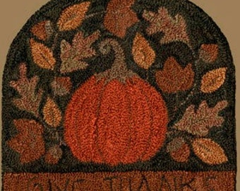 Punch Needle Pattern - Give Thanks