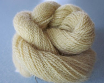 Alpaca Colo Organic Handpainted Yarn (Buttery Yellow) 100 yds 91.4 meters