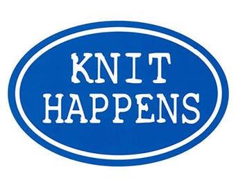 Knit Happens Vinyl Decal Sticker Bumper Sticker