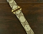 Authentic Re-purposed Handmade GUCCI Apple Watch Band Series 1 2 3 - 38 mm, 42 mm from Benito