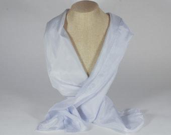 Cabbage Silk Scarf - 11x60 - Natural Dye