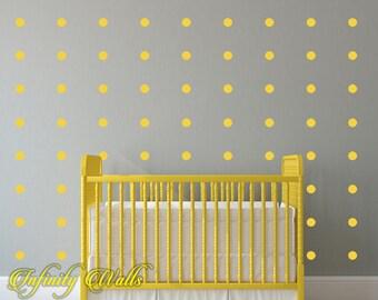 Polka Dot Wall Decal Set - Set of 50 Polka Dot - Pattern Decals - Peel and stick - Nursery room decor - Confetti Polka Dot Wall Decor